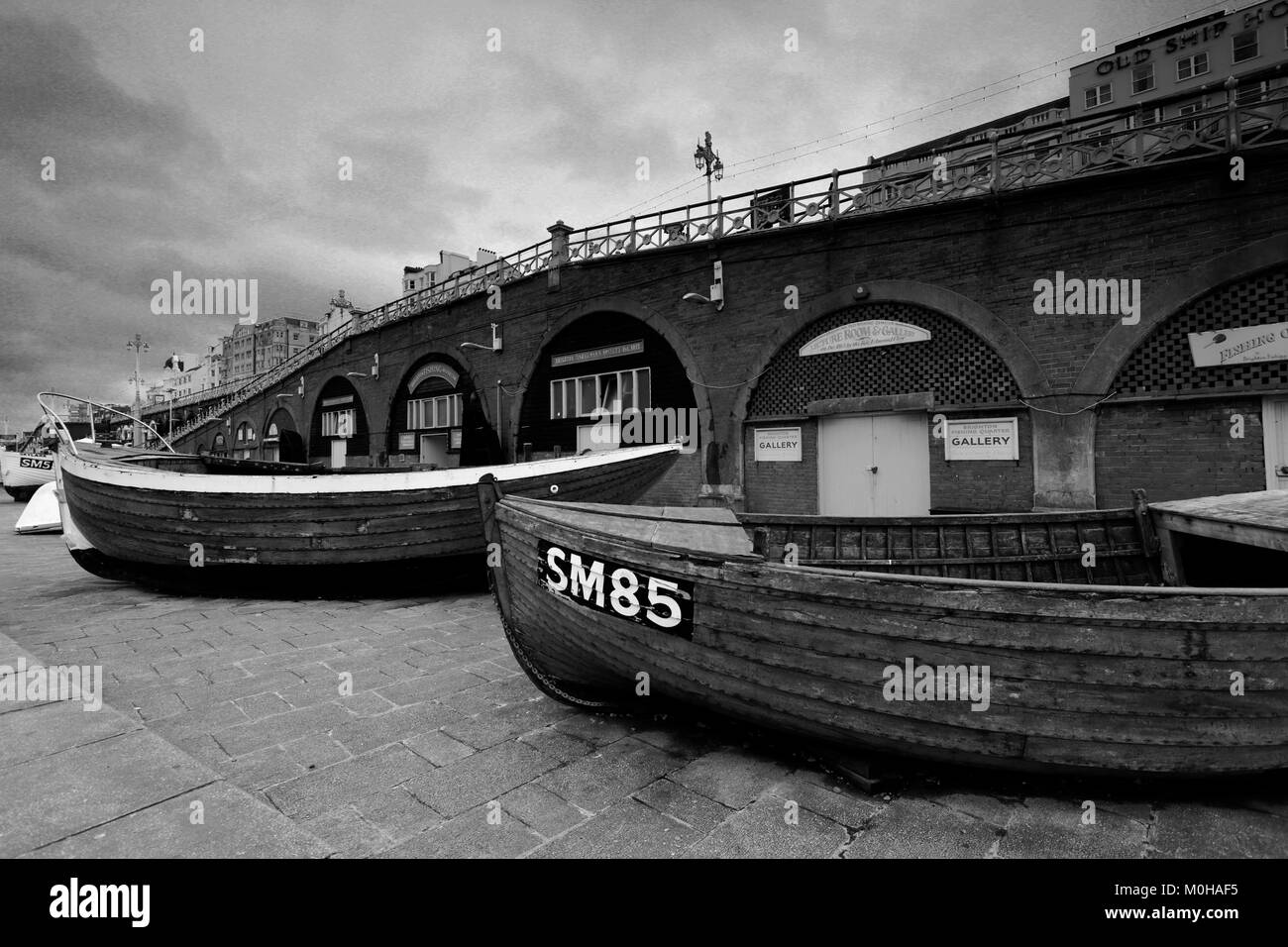 The Fishermans Museum on the promenade, Brighton & Hove, East Sussex, England, UK - Stock Image