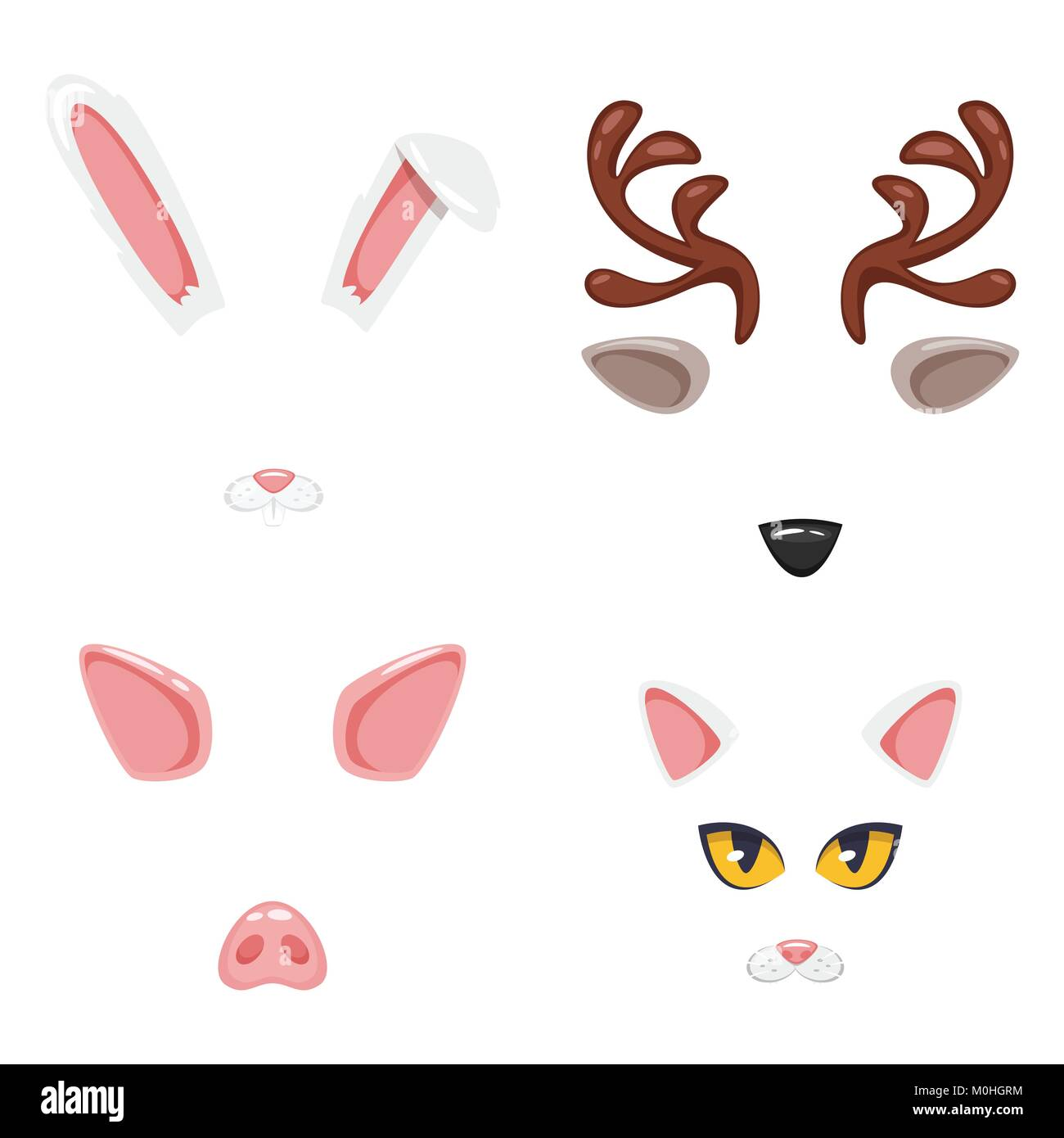 animal face or carnival mask - Stock Vector