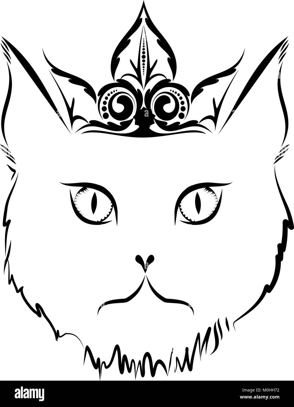 Cat tattoo. - Stock Image