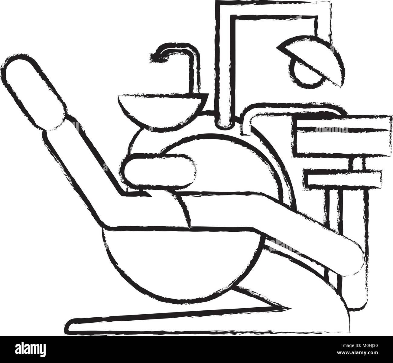 dental unit icon image - Stock Vector