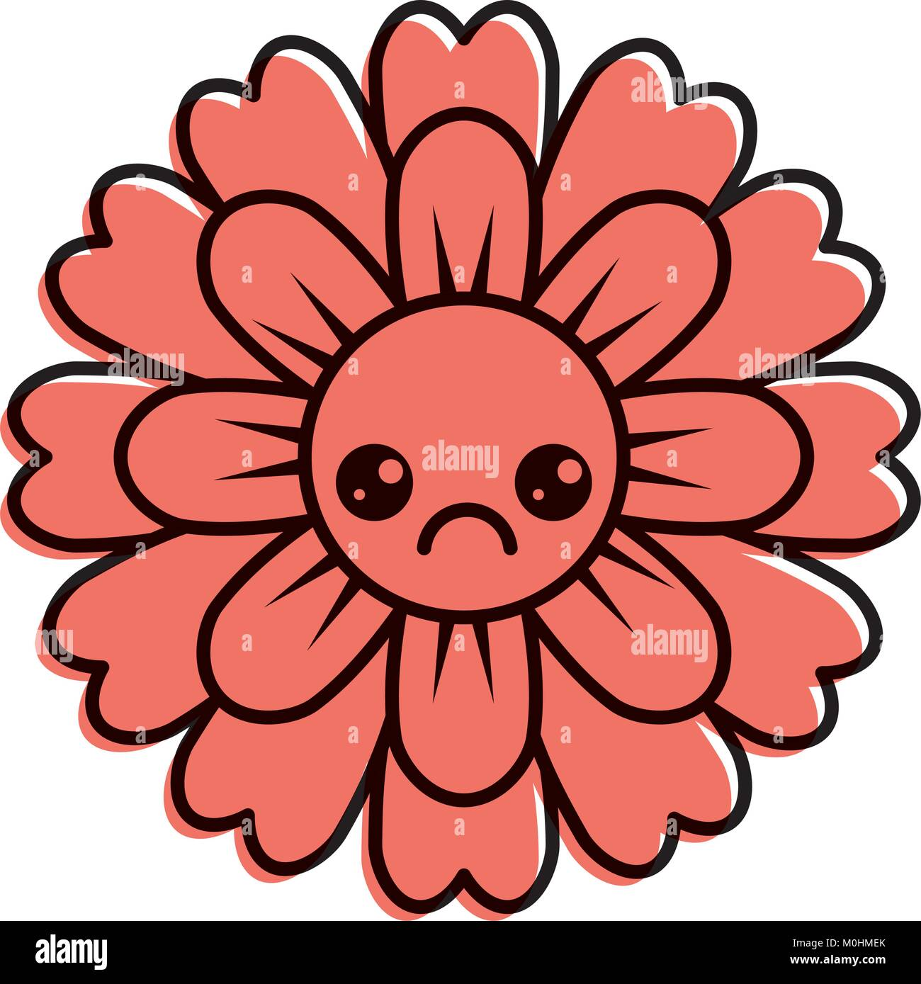 flower kawaii cartoon cute petals Stock Vector Art & Illustration ...
