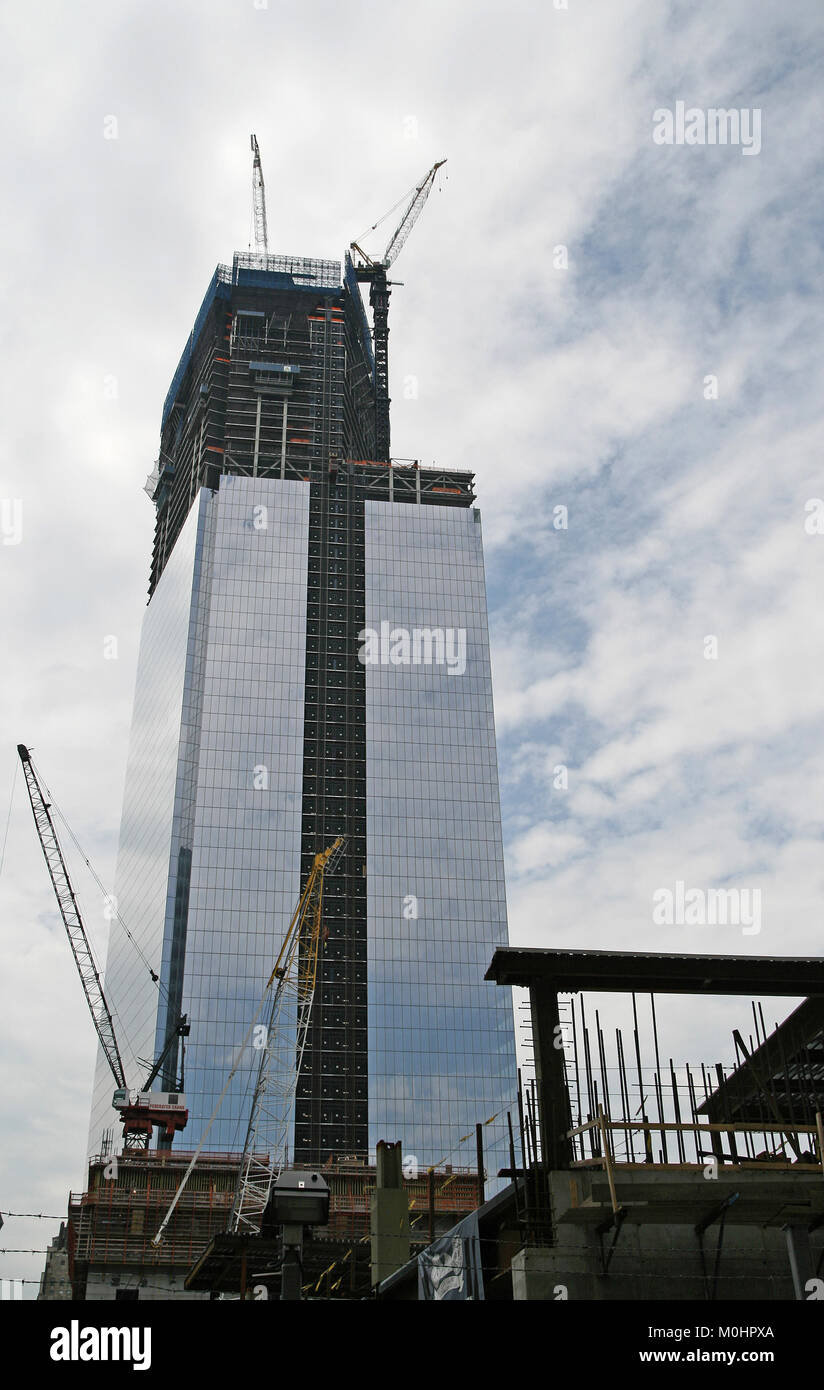 Four World Trade Center construction site in July 2012, Lower Manhattan, New York City, New York State, USA. - Stock Image