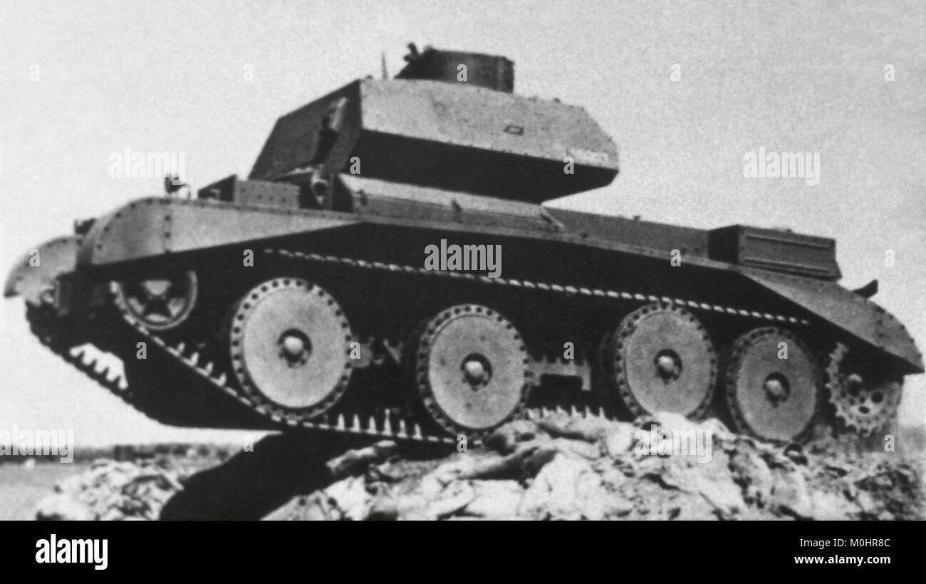 Second World War (1939-1945). English Cruise Tank, model A13 Mk IV (Nuffield). In service during 1940 and 1941, - Stock Image