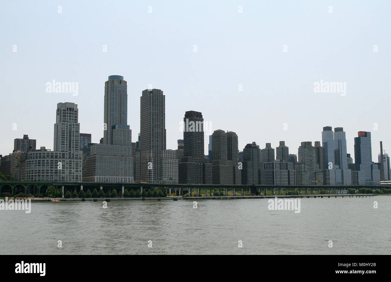 Riverside South (AKA Trump Place) apartment complex and West Side Highway, Riverside Boulevard between 59th Street - Stock Image