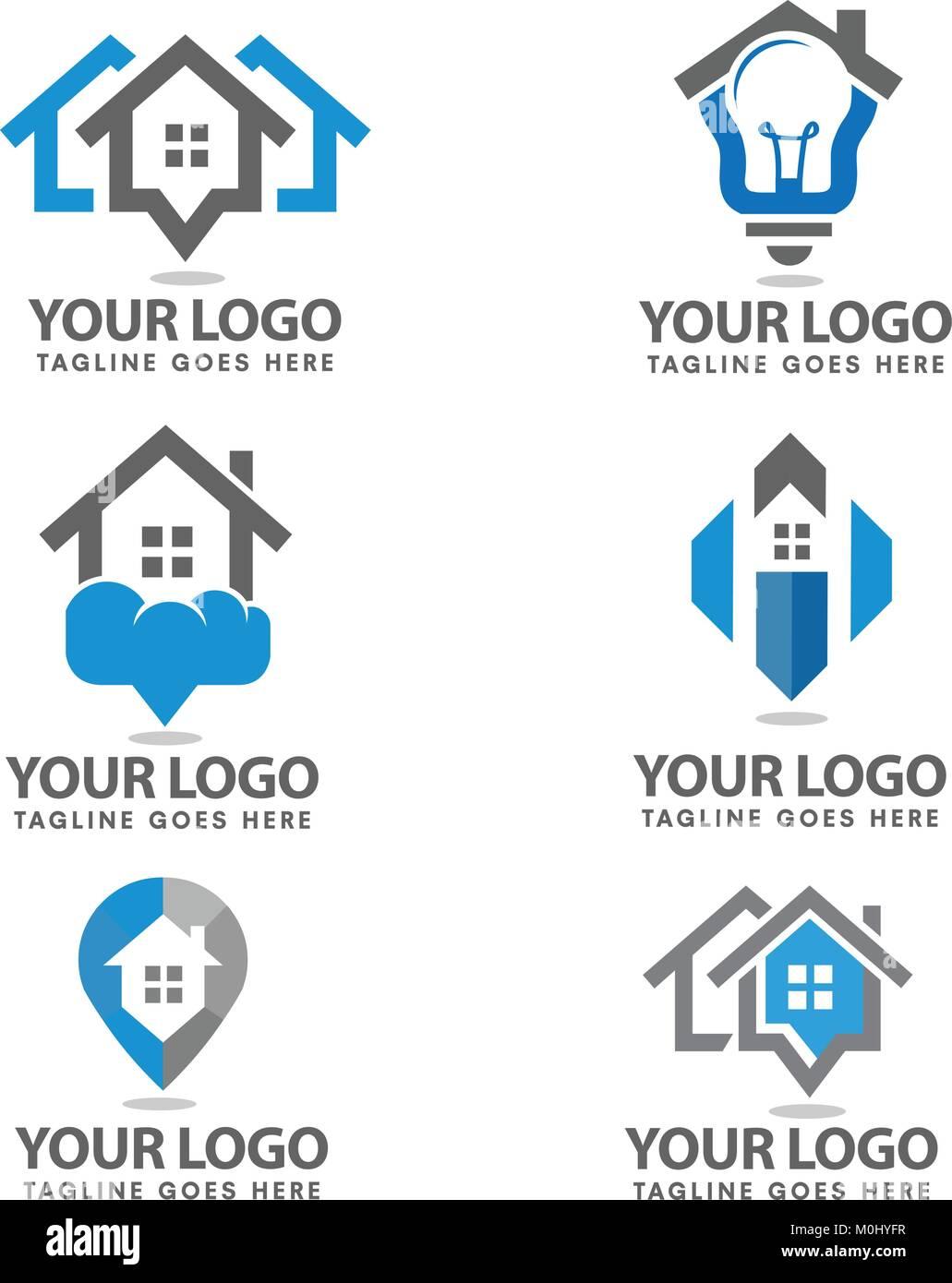 Simple Trend Real Estate Vector Logo Home Idea Simple House