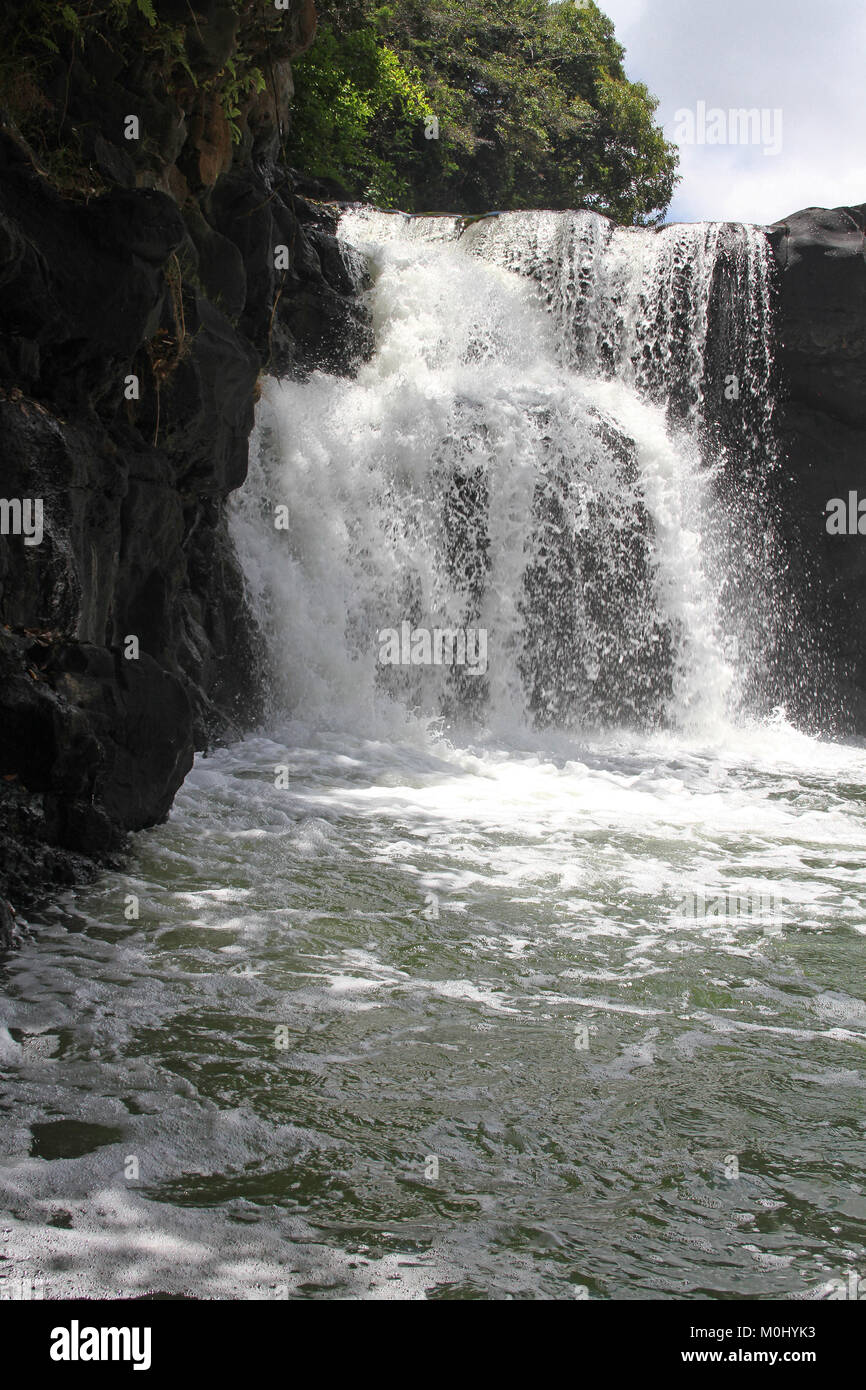 The Grand River South East Waterfalls, Flacq District, The Republic of Mauritius. - Stock Image