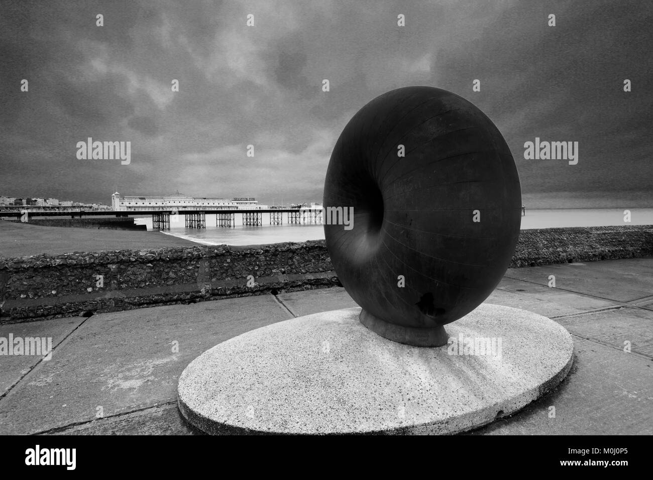 The Afloat sculpture, Brighton Palace Pier, Brighton & Hove, East Sussex, England, UK - Stock Image