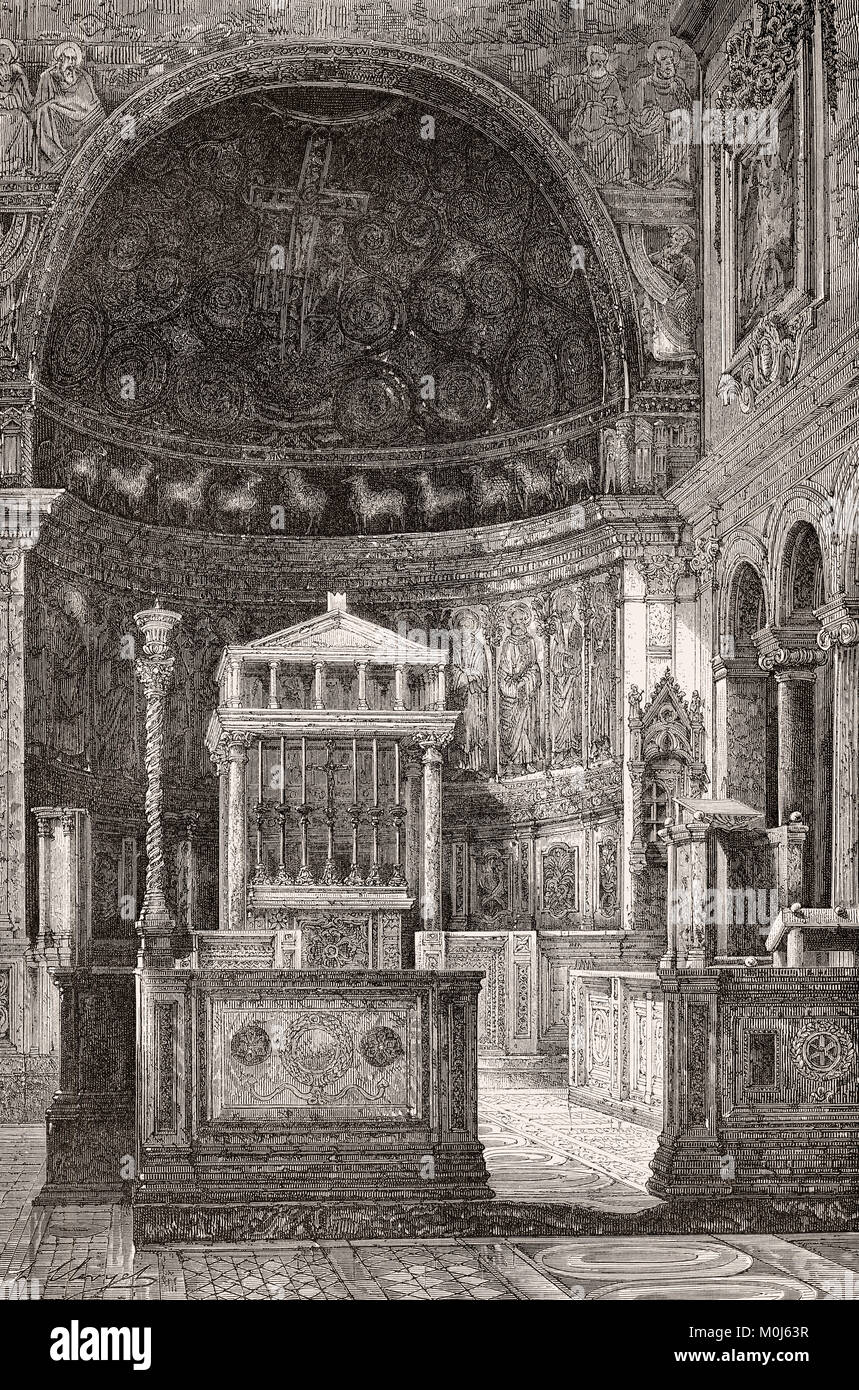 The Basilica of Saint Clement, Rome, Italy, 19th Century - Stock Image