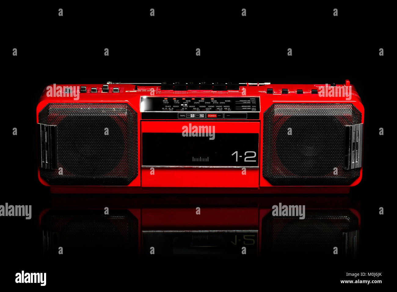 Radio Cassette, boombox - Stock Image