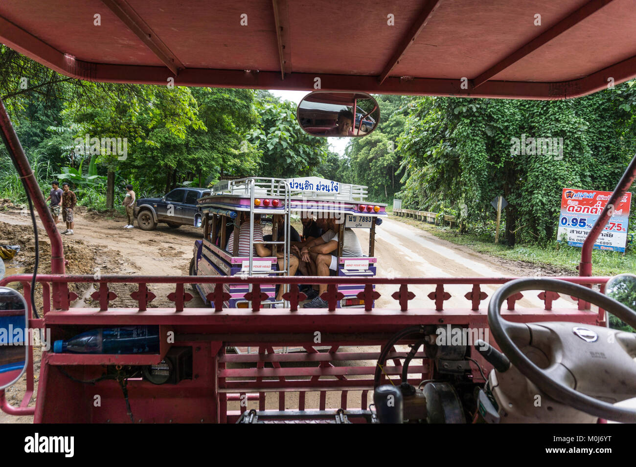 Asia,Thailand,Chiang Mai,taxi - Stock Image