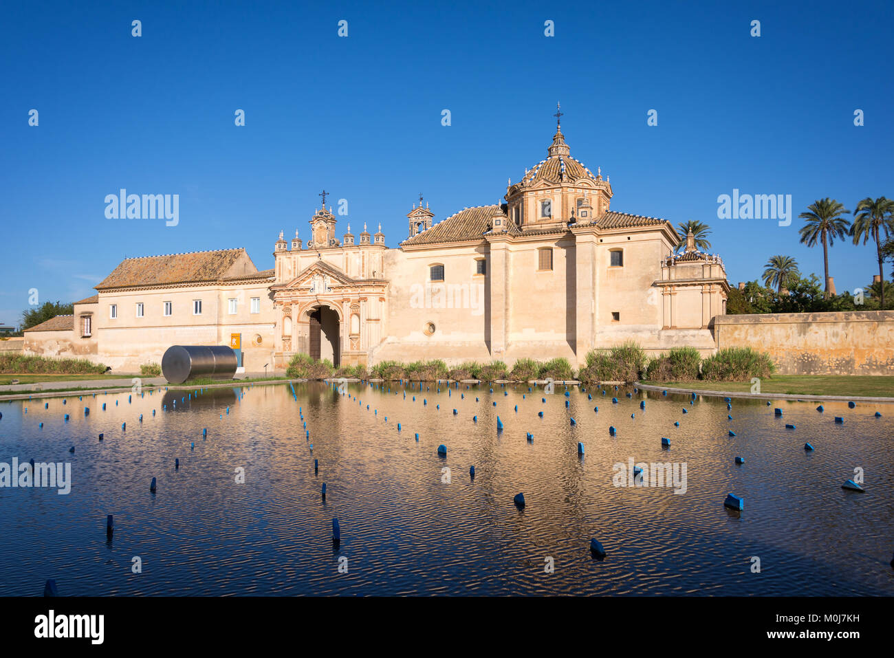 The Monastery of the Cartuja, now the site of the Andalusian Contemporary Art Center in Seville, Spain - Stock Image