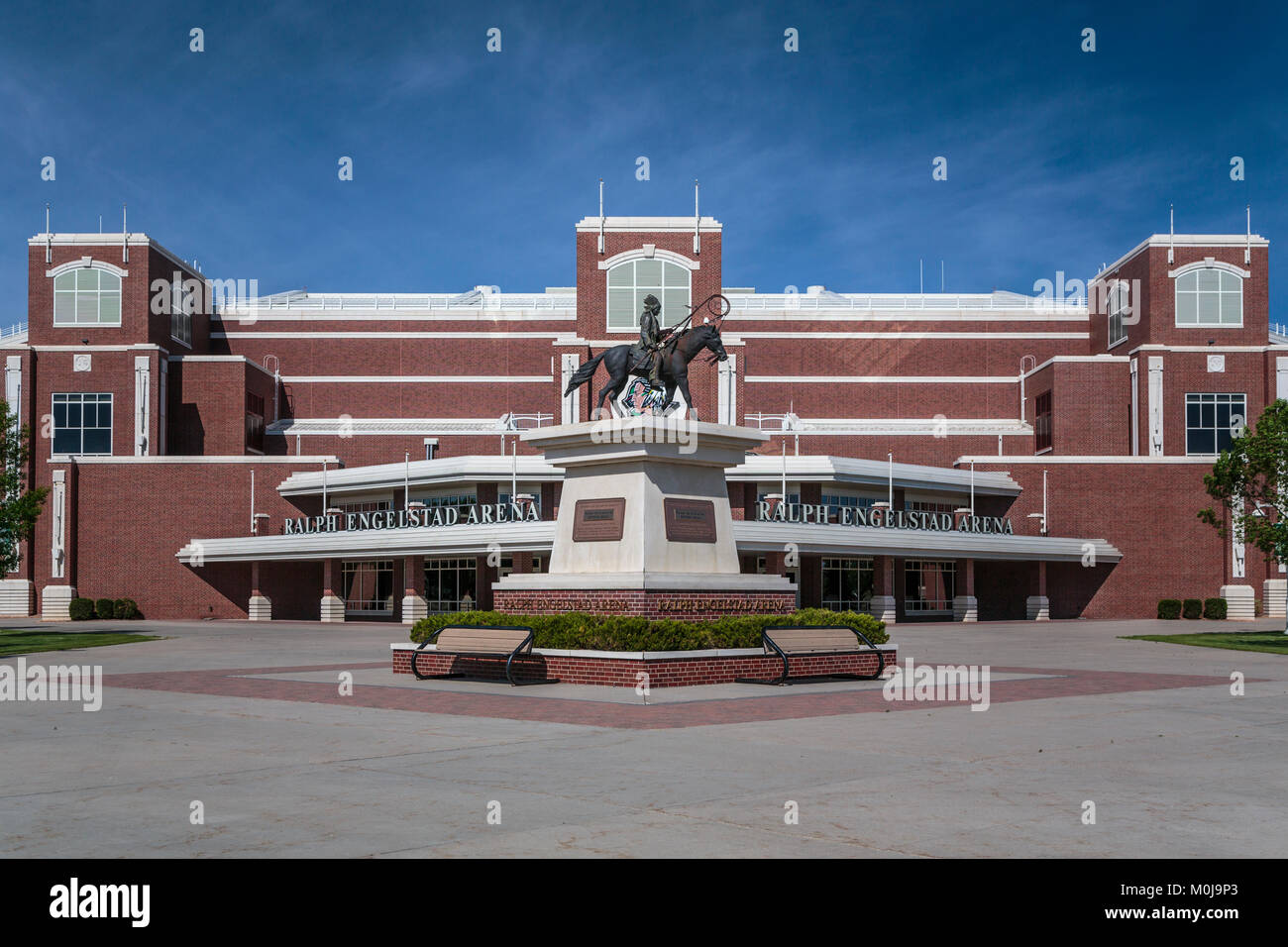 The Ralph Engelstad Arena on the campus of the University of North Dakota in Grand Forks, North Dakota, USA. - Stock Image