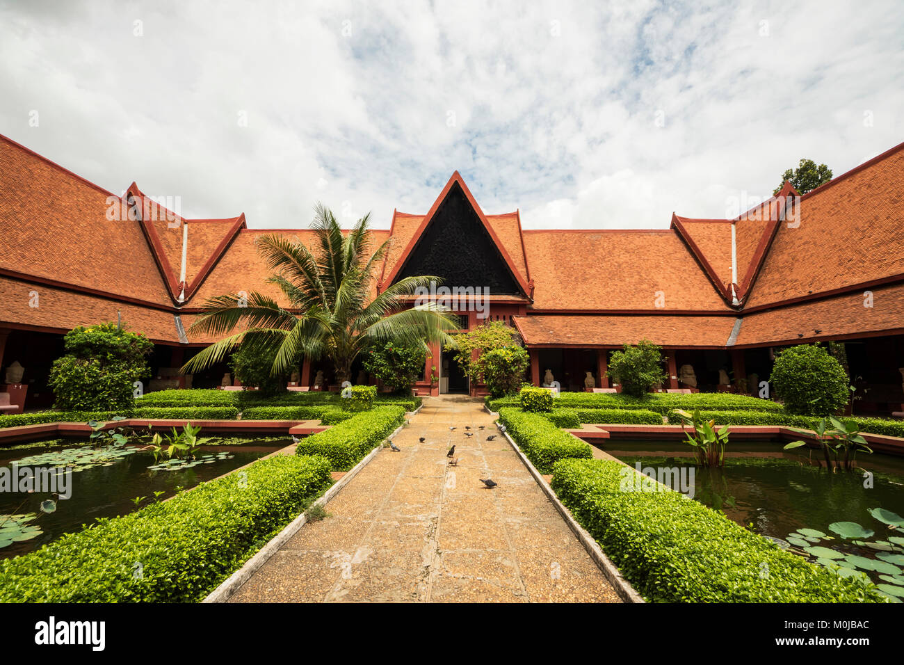 Courtyard in the National Museum of Arts; Phnom Penh, Cambodia - Stock Image