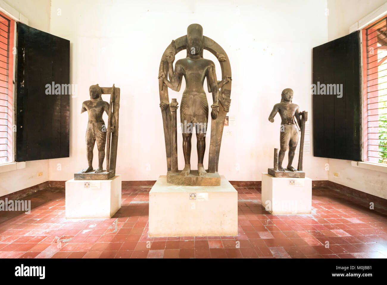Gallery of Khmer art at the National Museum of Arts; Phnom Penh, Cambodia - Stock Image