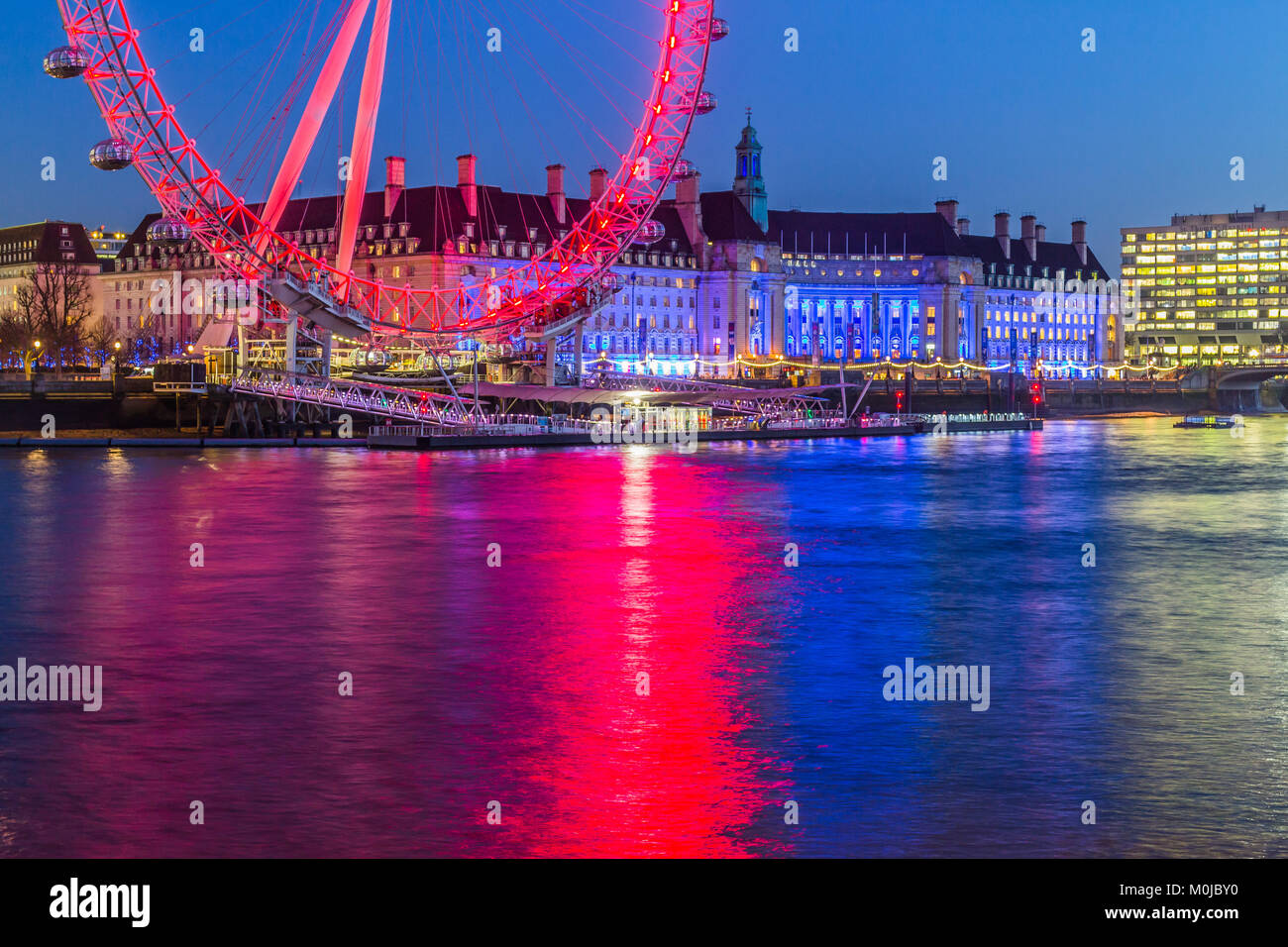 London Eye, Millennium Wheel. - Stock Image