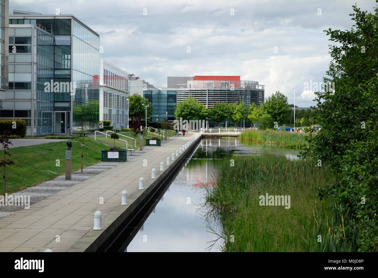 Businesses by Loch Ross at Edinburgh Park - Stock Image