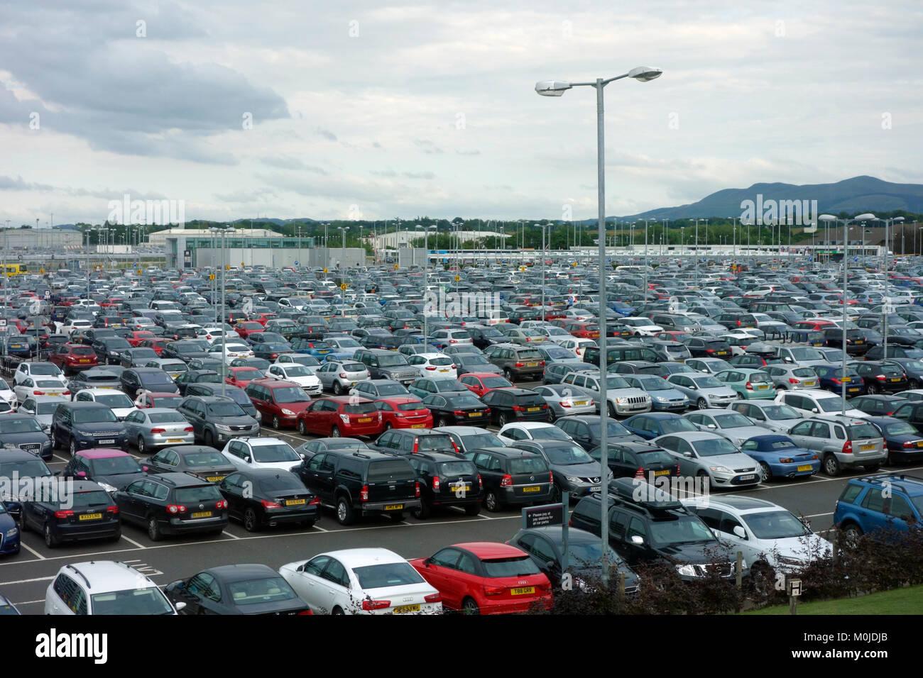 Edinburgh Airport car parks Stock Photo