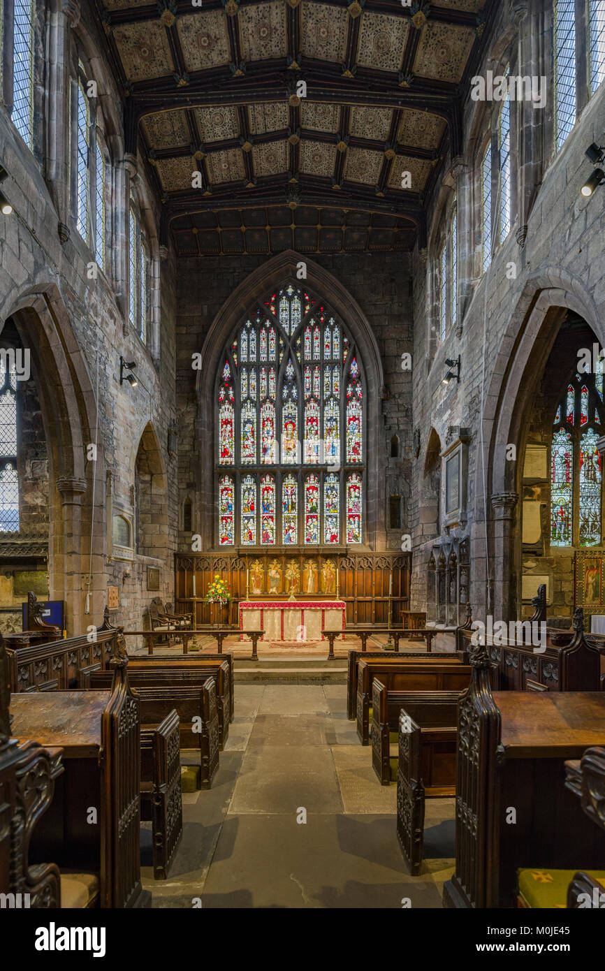 Photographic record of buildings in Rotherham town centre, Wellgate, Rotherham Minster inside and Outside and a - Stock Image