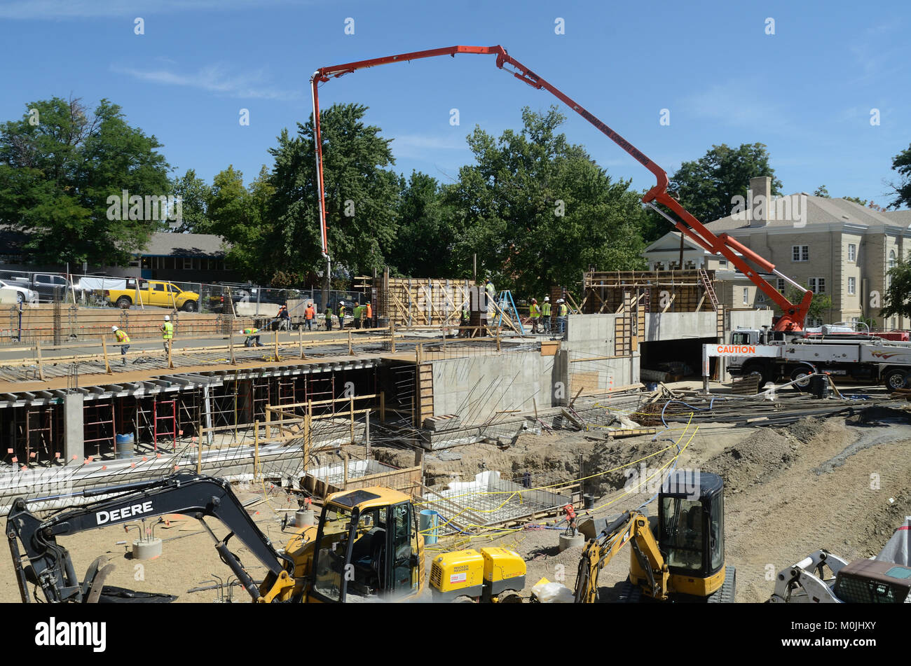 Construction at Trinity Horizons, affordable housing. - Stock Image