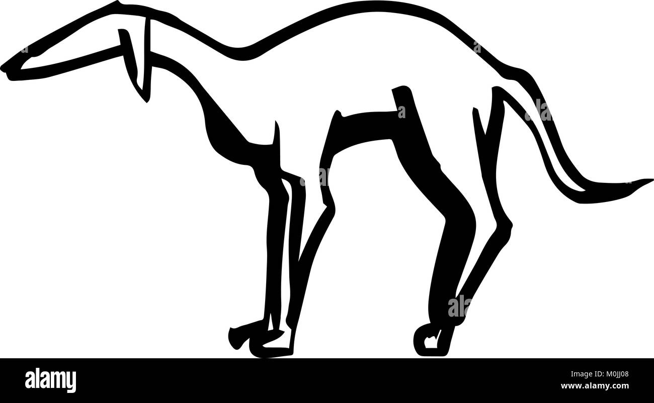 animal,dog, long, animalsilhouette, vector, nipples, handdrawing, cartoon, doggies, contour, 2018, character, dachshund, Stock Vector