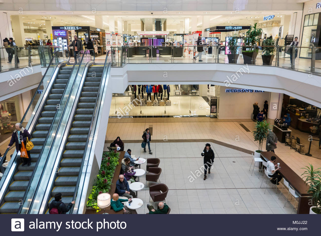 Hudson's Bay department store at the upscale Scarborough Town Centre mall Toronto Ontario Canada - Stock Image