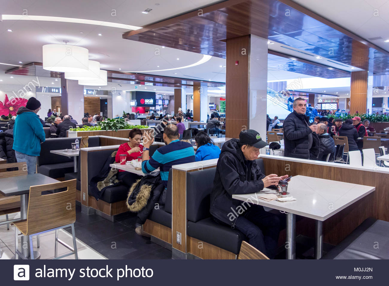 Food court restaurants at the Scarborough Town Centre mall Toronto Ontario Canada - Stock Image