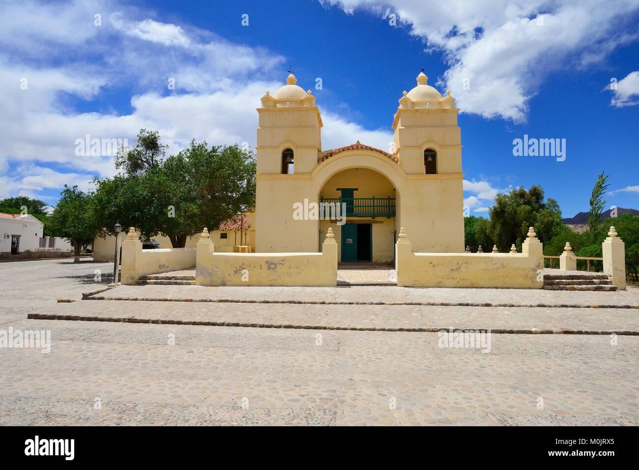 Church of Iglesia San Pedro de Nolasco, Molinos, Province of Salta, Argentina - Stock Image