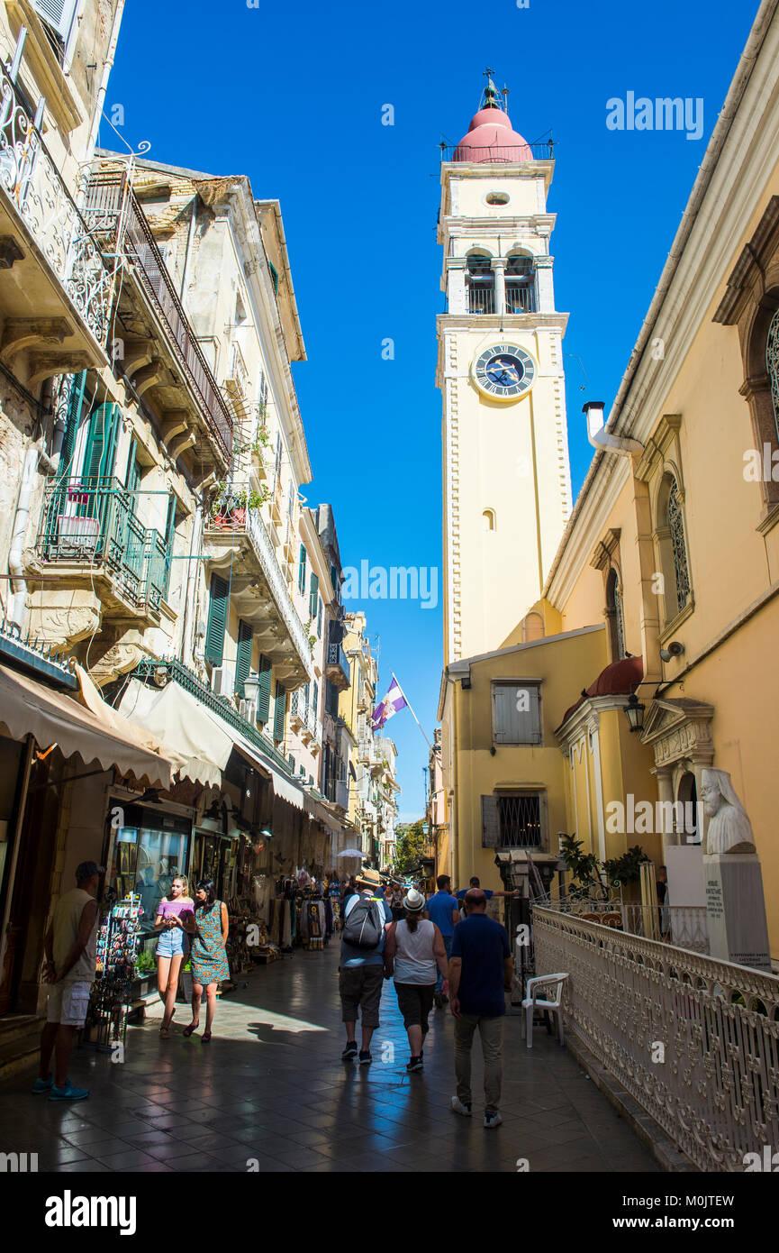 Old town of Corfu, Ionian Islands, Greece - Stock Image