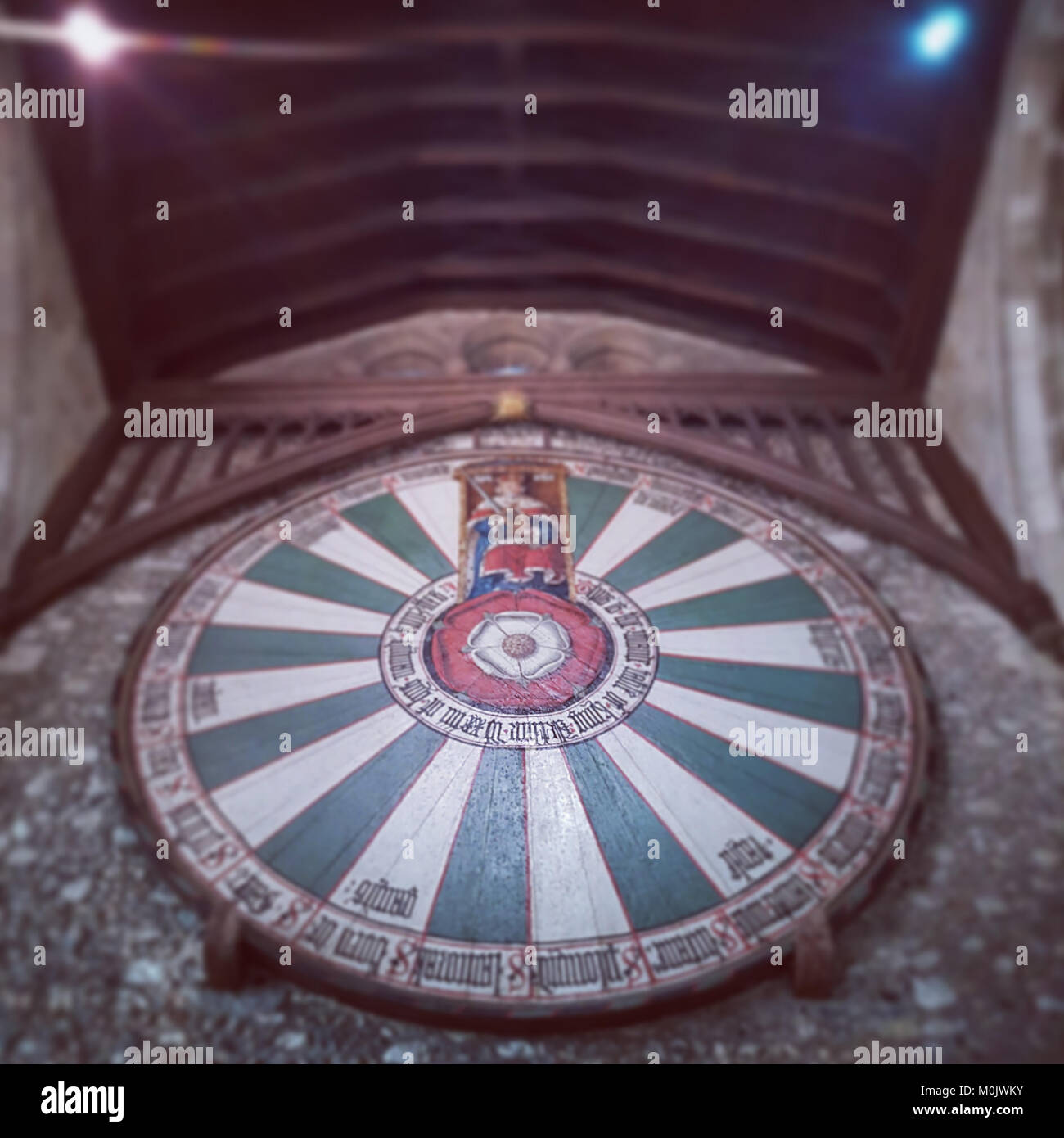 King Arthur's Round Table, Winchester Great Hall Stock Photo