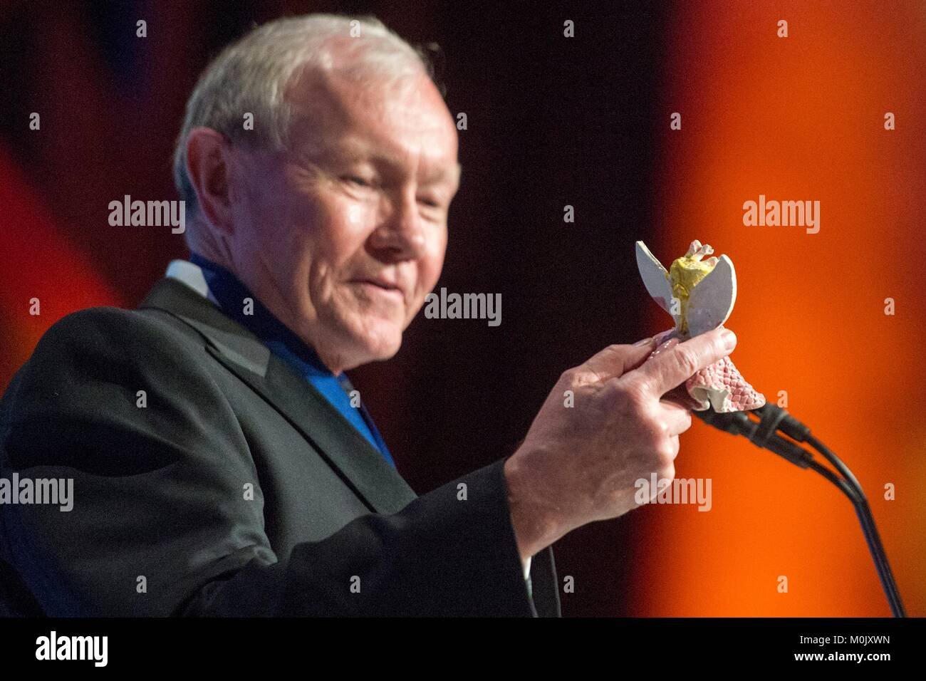 Former U.S. Joint Chiefs of Staff Chairman Martin Dempsey speaks during the Tragedy Assistance Program for Survivors - Stock Image