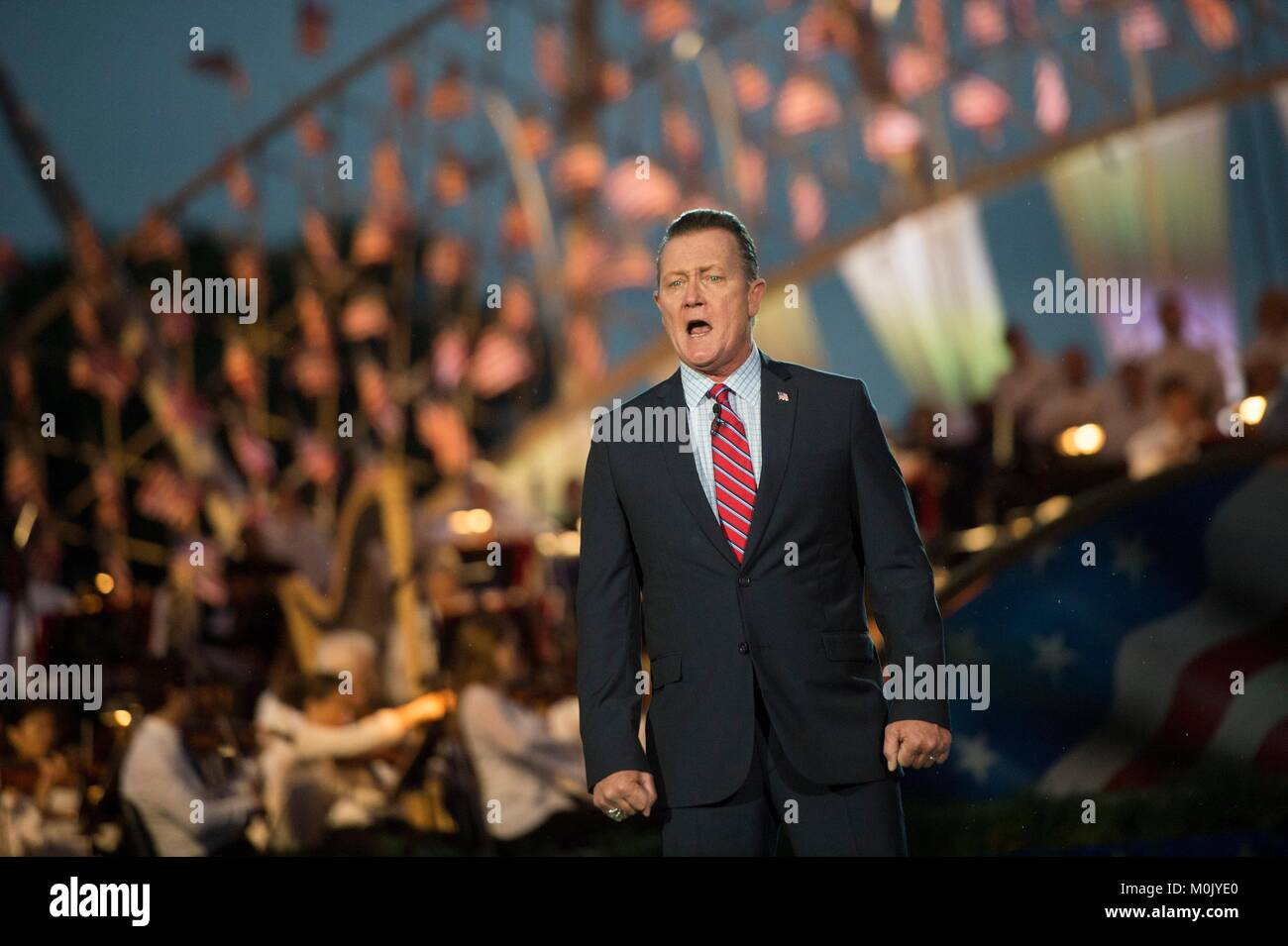 Actor Robert Patrick performs during the National Memorial Day Concert at the U.S. Capitol West Lawn May 28, 2017 - Stock Image