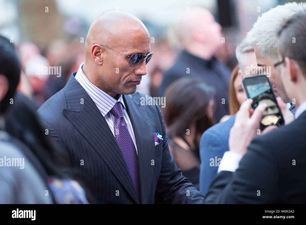 London, UK, 21st May 2015, Dwayne Johnson,World Premiere of 'San Andreas' at the Odeon Leicester Square - Stock Image