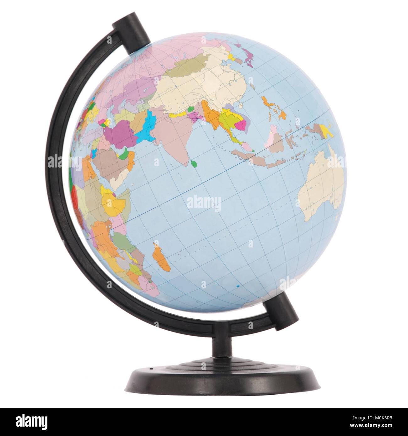 The globe. Eurasia. On white background. - Stock Image