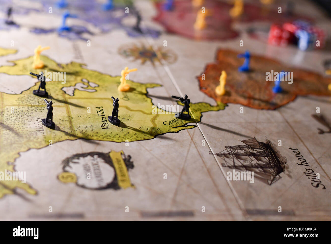 Risk is a popular strategy board game invented in 1957 by French filmmaker Albert Lamorisse. - Stock Image