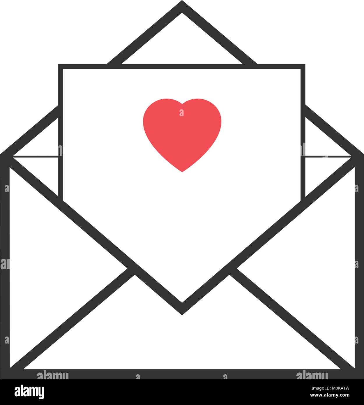 Envelope with letter vector - Stock Vector