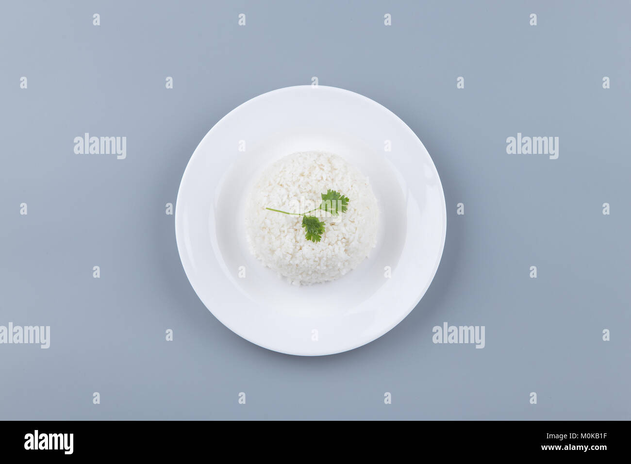 Asian Steamed Rice - Stock Image