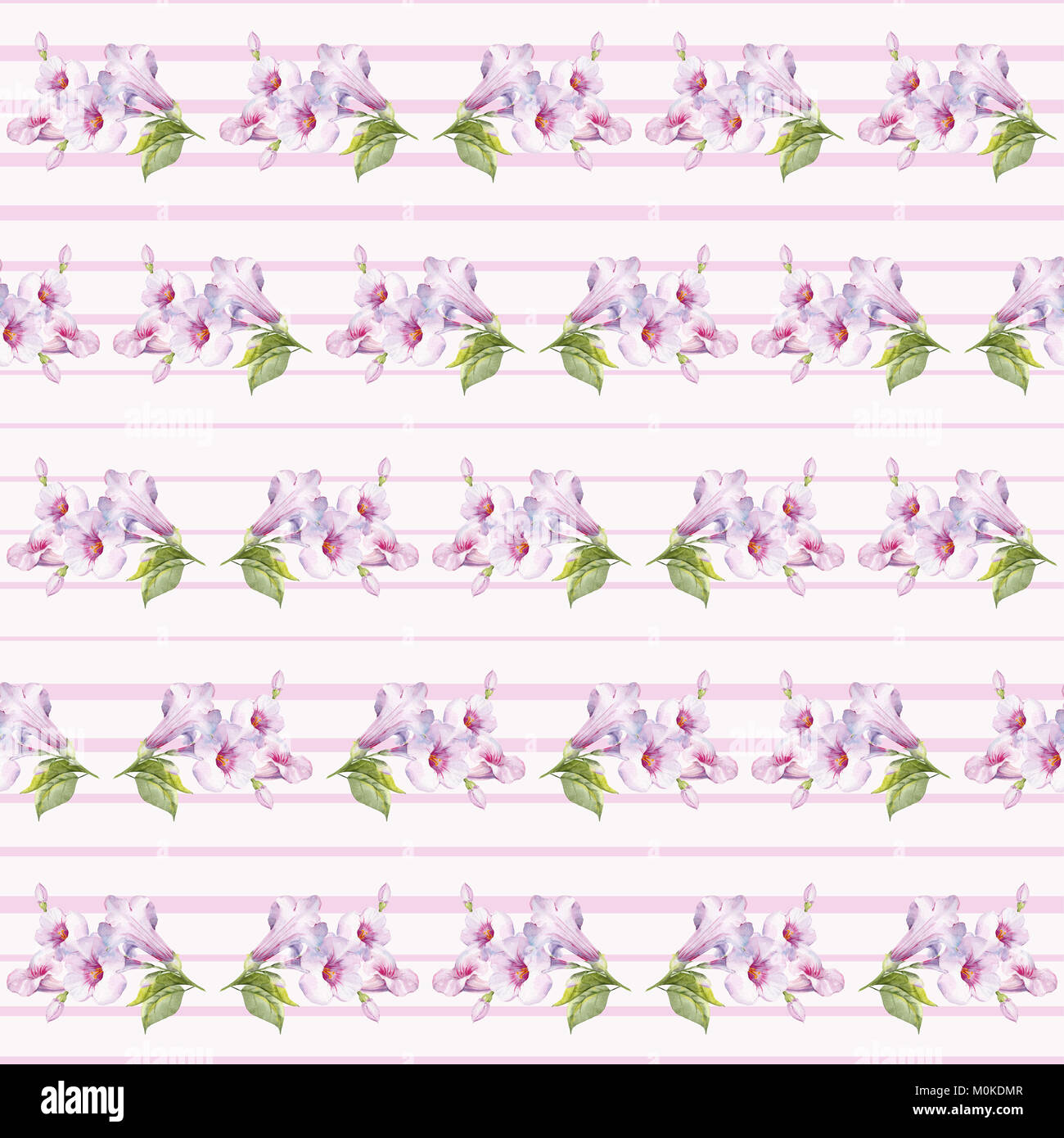 Floral pattern in pale purple tones. Stock Photo