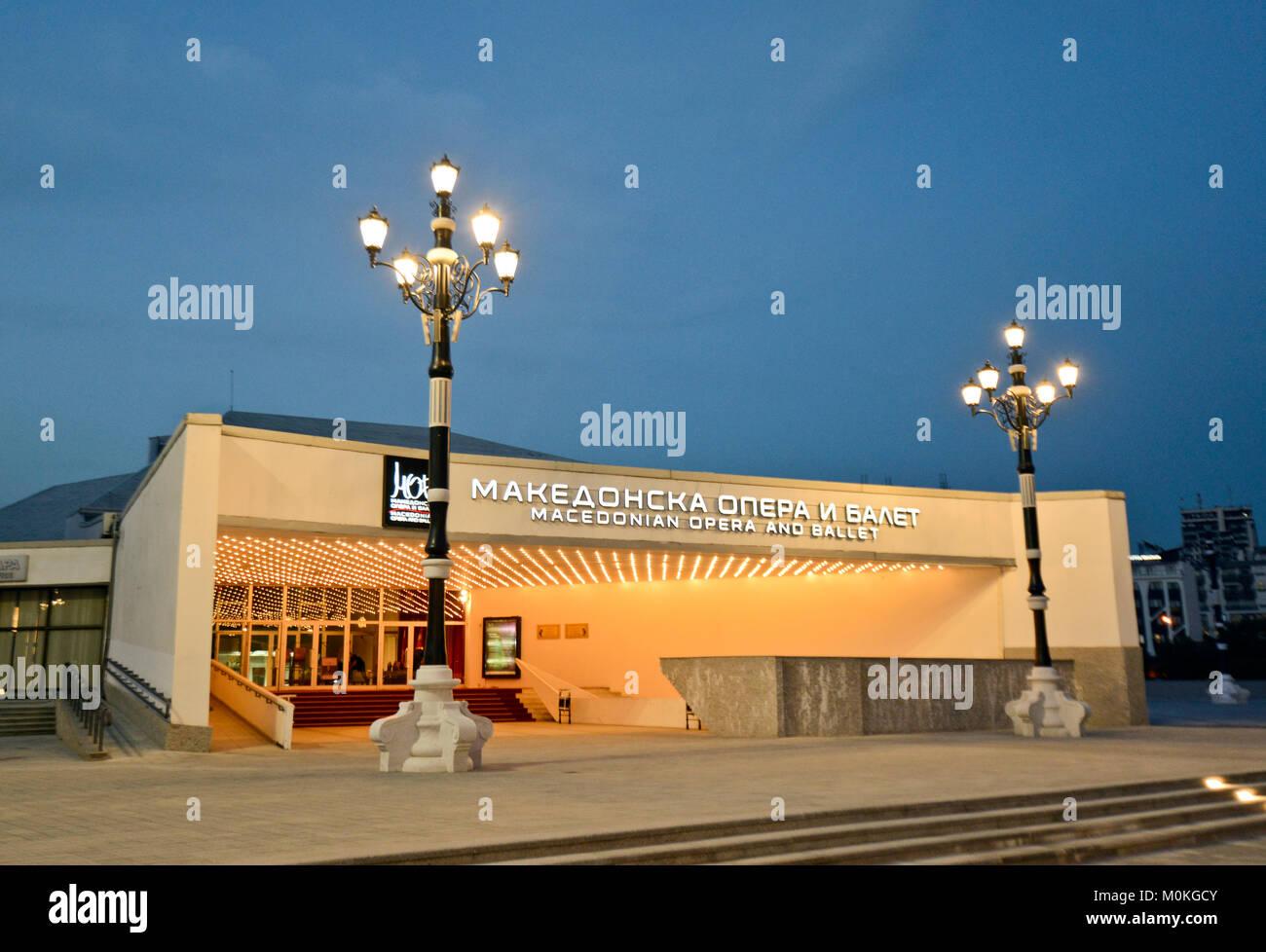 Macedonian opera and ballet, Skopje, Macedonia - Stock Image