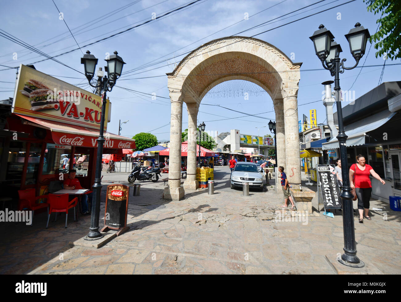 Skopje's Old Bazaar, Macedonia - Stock Image