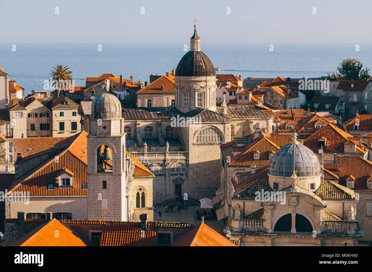Panoramic view of the historic town of Dubrovnik, one of the most famous tourist destinations in the Mediterranean - Stock Image