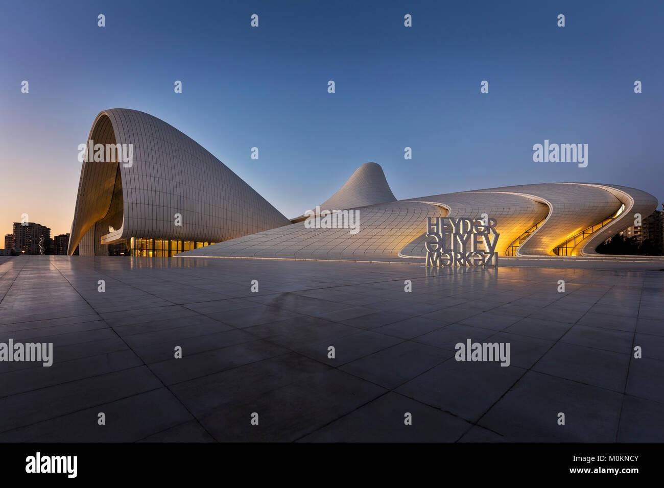 Heydar Aliyev Center in Baku - Stock Image