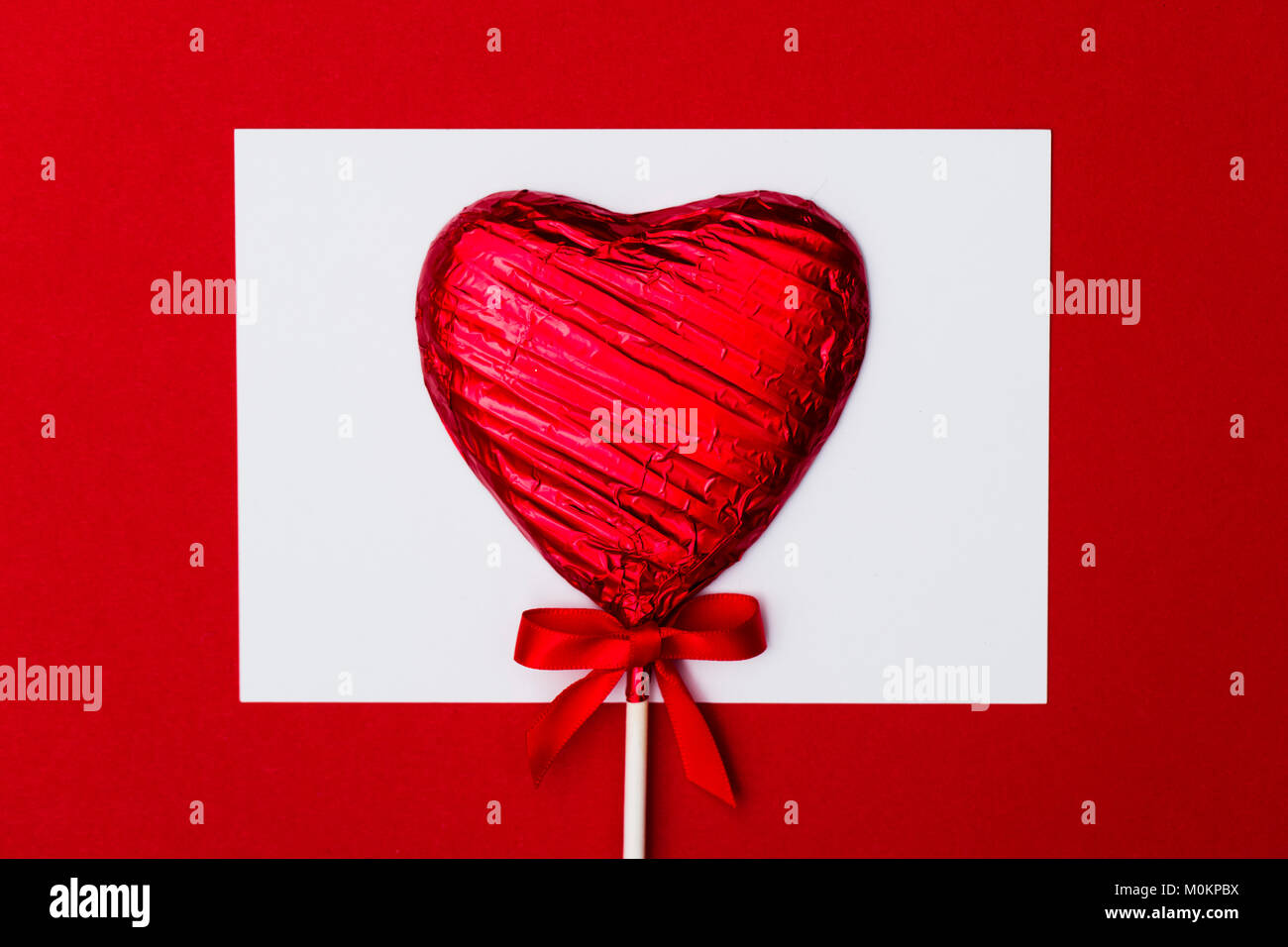 Heart Shaped Candy Lolly Valentine S Day Gift With A Blank
