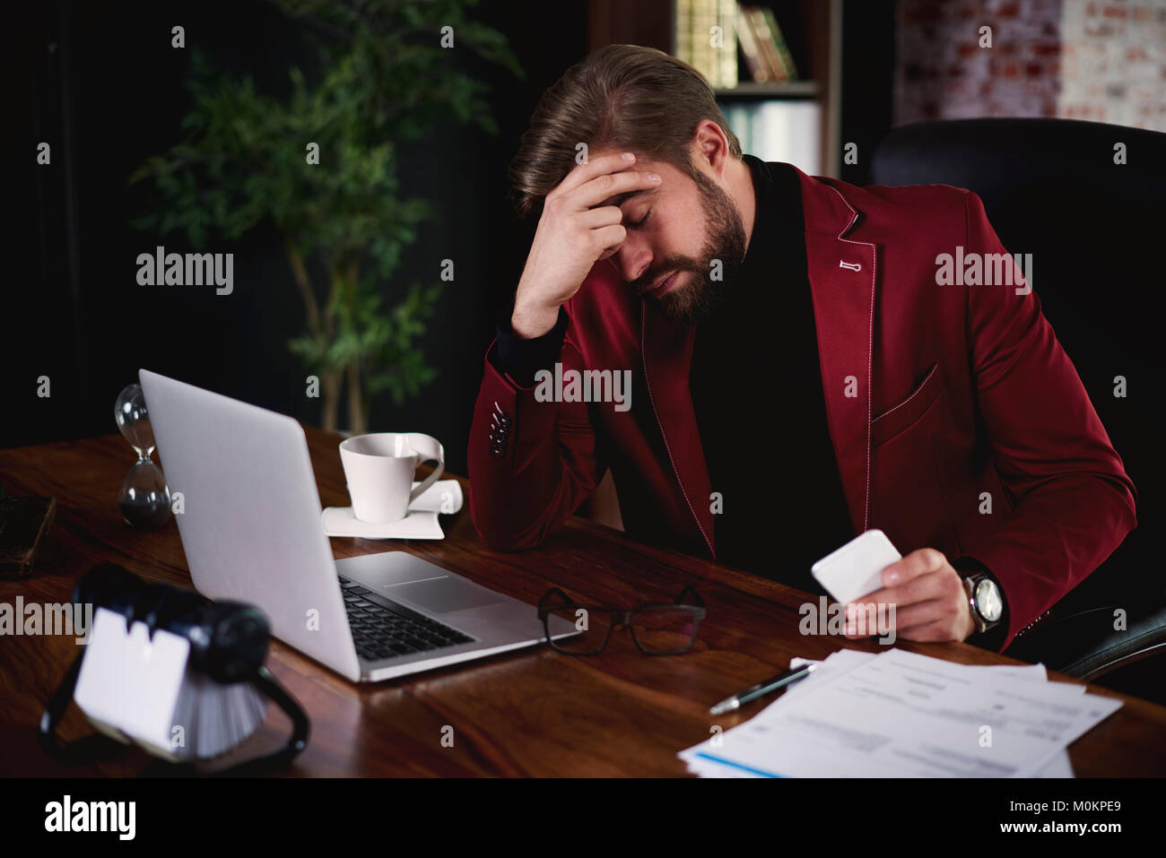 This business meeting was a total failure - Stock Image