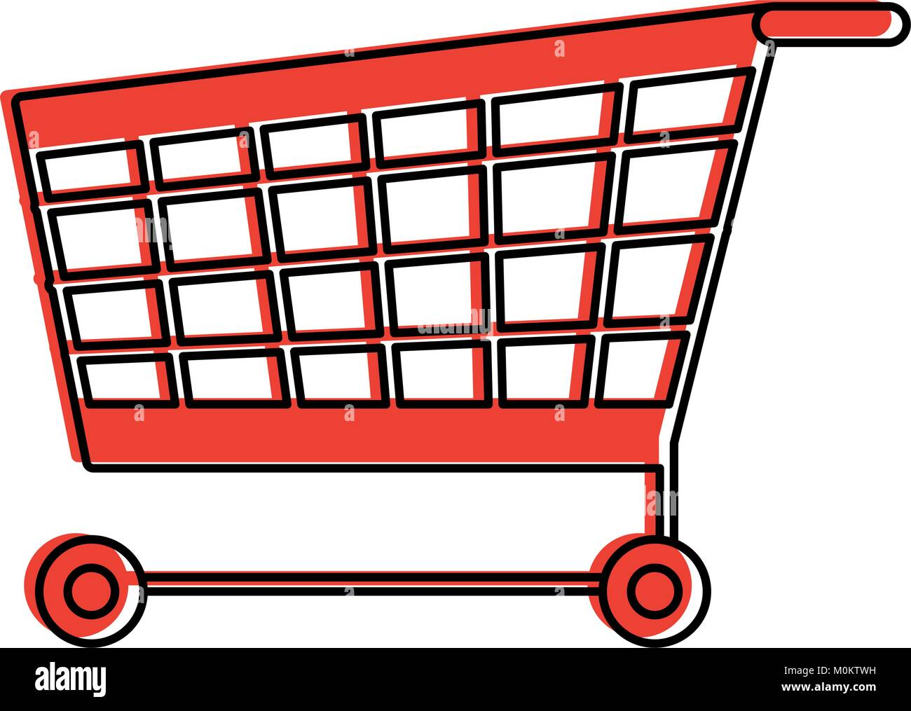 Shopping cart isolated - Stock Vector
