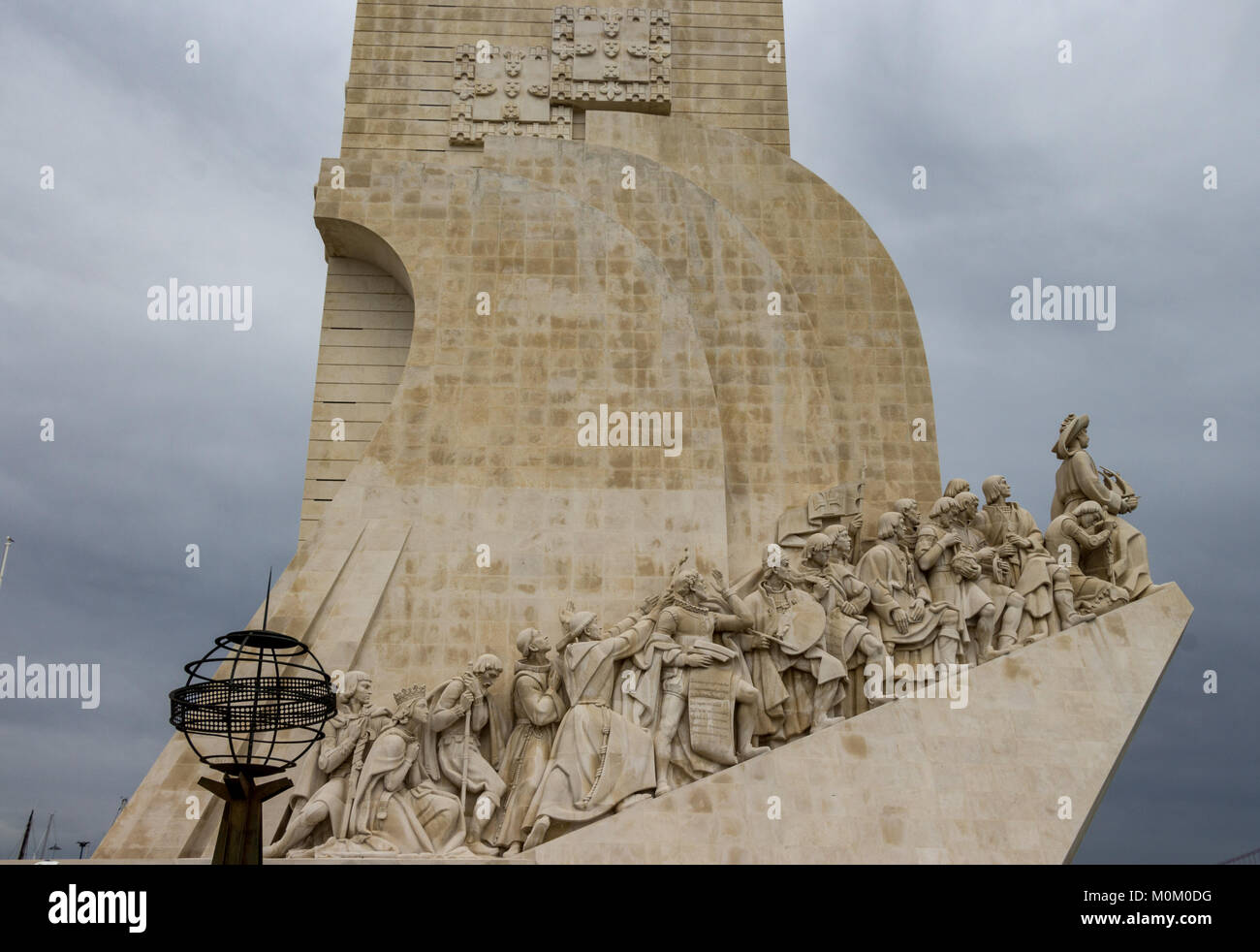 Monument to the Discoveries Belem Lisbon Portugal Stock Photo