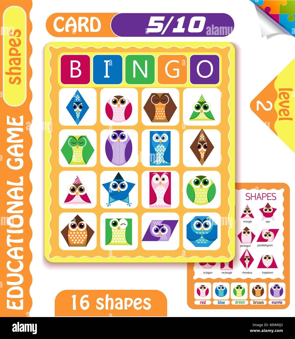picture relating to Shape Bingo Printable referred to as informative bingo recreation for preschool small children with designs inside the
