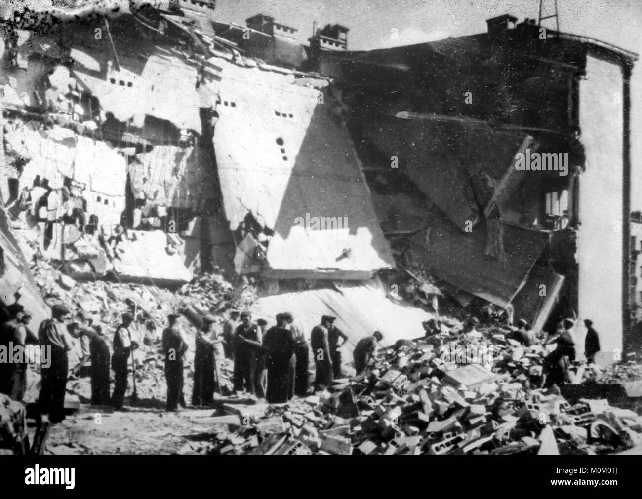 Air raid damage in Poland, WW2 - Stock Image