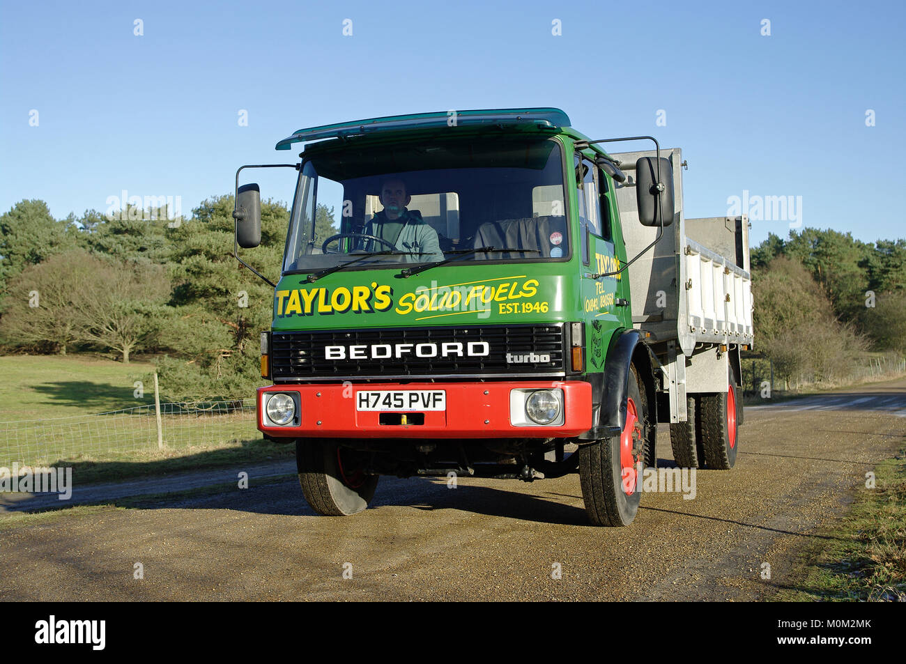 Bedford TL tipper Stock Photo