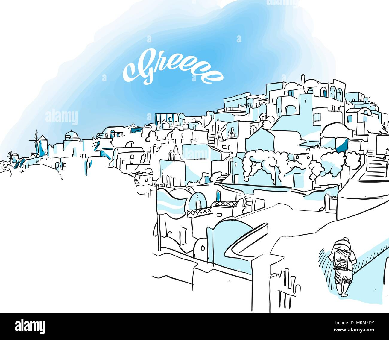 Santorini Greece Stock Vector Images Alamy