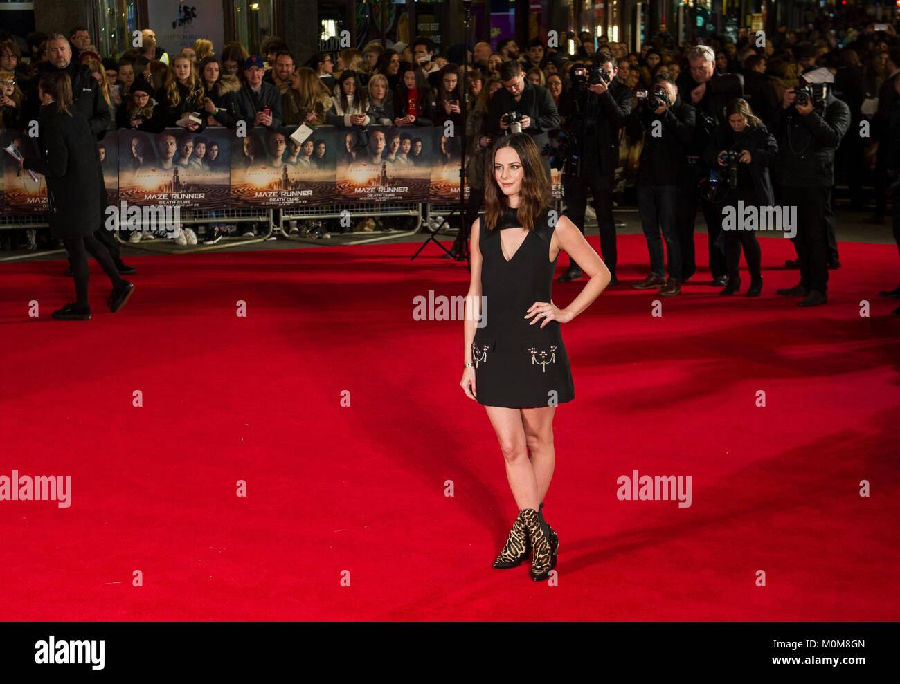 London, UK. 22nd Jan, 2018. Kaya Scodelario attends the 'Maze Runner: The Death Cure' film premiere, London, - Stock Image